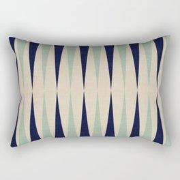 Blue geometric bands Rectangular Pillow