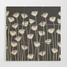 White Poppies Wood Wall Art