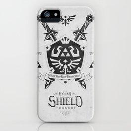 Legend of Zelda - The Hylian Shield Foundry iPhone Case