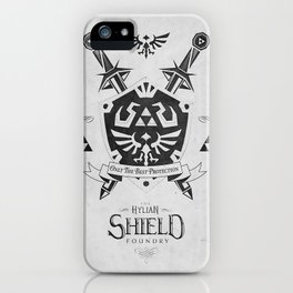 Legend of Zelda - The Hylian Shield Foundry iPhone Case