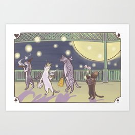Cat Parade Art Print