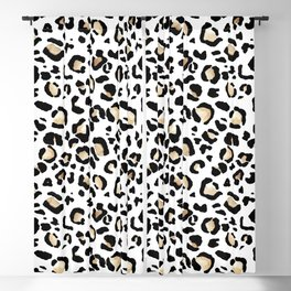 Leopard Animal Print Watercolour Painting Blackout Curtain
