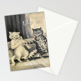 Cats On A Couch - Louis Wain Cats Stationery Cards
