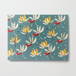 Vanilla flowers on ocean background Metal Print