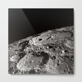 Terraced Wall Crater on the Lunar Limb  Metal Print
