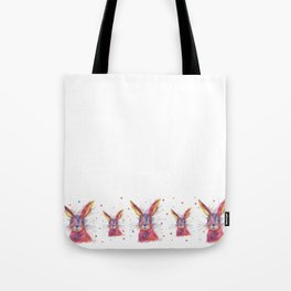 Ink Animals of Africa - Paisley Rabbit Tote Bag
