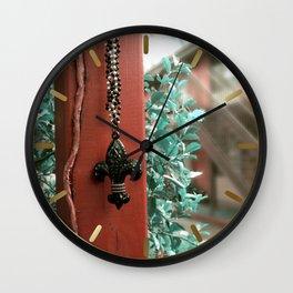 The Fleur- de- Lis Wall Clock
