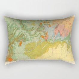 Vintage Southwest Map Rectangular Pillow