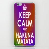 hakuna iPhone & iPod Skins featuring hakuna matata by  Alexia Miles photography