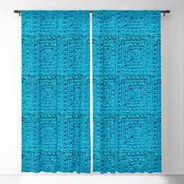 Blue Blackout Curtain