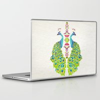 selena gomez Laptop & iPad Skins featuring peacock by Manoou