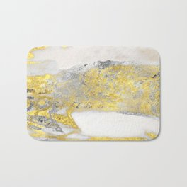 Silver and Gold Marble Design Bath Mat