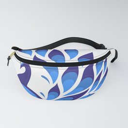 Pretty Peacock Pattern White Background Fanny Pack