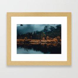 Moody Yosemite Reflections Framed Art Print