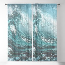 Wave Series Photographic Portrait #2 - Jéanpaul Ferro Sheer Curtain