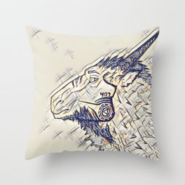 The Beast 407 Throw Pillow