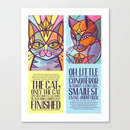 Oda al gato Canvas Print