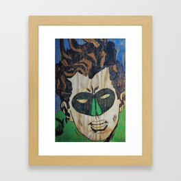 Lantern Wood Framed Art Print