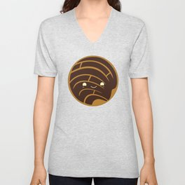 Chocolate Concha Pan Dulce (Mexican Sweet Bread) Unisex V-Neck