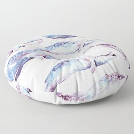 Watercolor Whales Floor Pillow