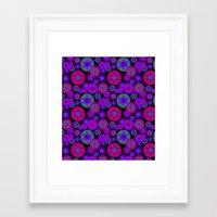 olivia joy Framed Art Prints featuring Joy Foulard  by Nina May Designs