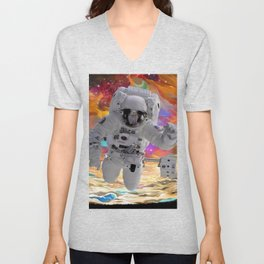 Cosmic Galaxy Astronaut Unisex V-Neck
