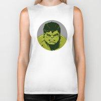 hulk Biker Tanks featuring Hulk by Hazel
