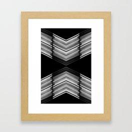 Innerspace - White on Black Minimalist Geometric Art Framed Art Print