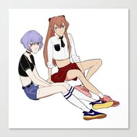 evangelion Canvas Prints featuring Evangelion by Kovvu