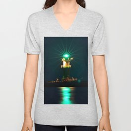 GREEN LIGHTHOUSE on the BALTIC Unisex V-Neck