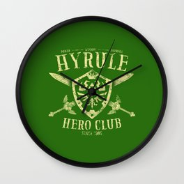 Hyrule Hero Club Wall Clock
