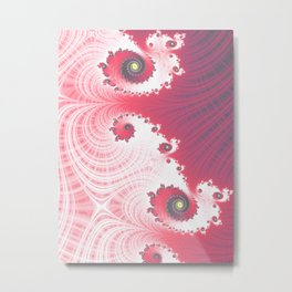 Strawberry Cream - Fractal Art Metal Print