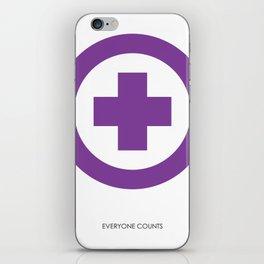 everyone counts iPhone Skin