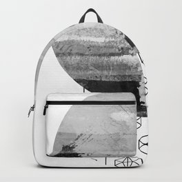 'Planets' minimal styled geometrc design and abstract painting Backpack