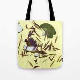 Liquid Pressed Flower Tote Bag