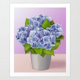 Gratitude in Blue Art Print