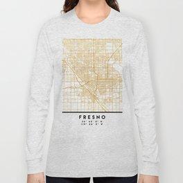 FRESNO CALIFORNIA CITY STREET MAP ART Long Sleeve T-shirt