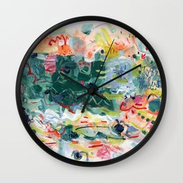 """Jitter"" Mixed Media Wall Clock"
