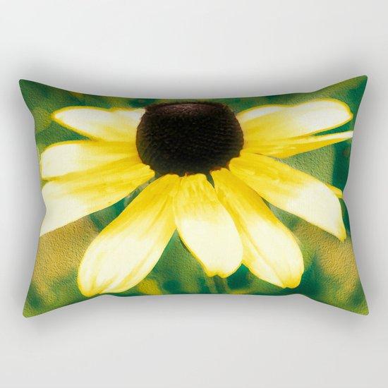 Vibrant Yellow Coneflower Rectangular Pillow