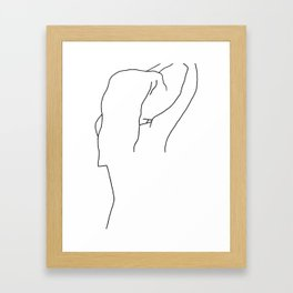 Linedrawing woman II Framed Art Print