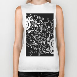 Abstract white and grey background Biker Tank