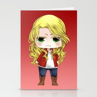 ouat Stationery Cards featuring OUAT - Chibi Emma Swan by Yorlenisama
