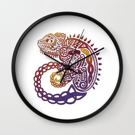 Celtic Chameleon Wall Clock