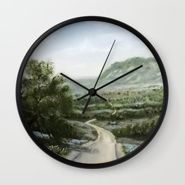 Texas Hill Country Wall Clock