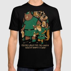oo-de-lally (brown version) Mens Fitted Tee LARGE Black