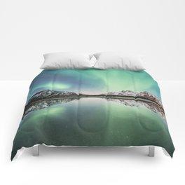 Northern Lights & Mountains Comforters