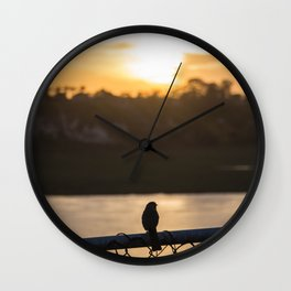 Even birds watch the sunset Wall Clock