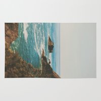 oregon Area & Throw Rugs featuring Oregon Coast by Leah Flores