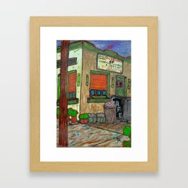 Grilled Cheese & Museum  Framed Art Print