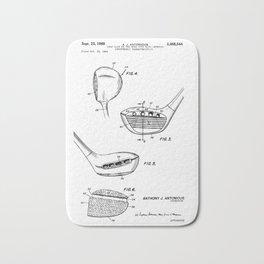 patent art Antonious Golf Club of the wood type 1969 Bath Mat